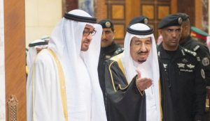 King Salman, Crown Prince of Abu Dhabi meet in Riyadh (Asharq Al-Awsat)